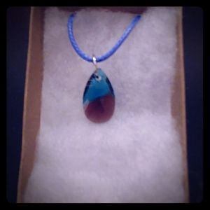 Sunkissed Turquoise Crystal Teardrop Necklace